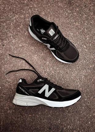 Классные мужские кроссовки new balance 990 чёрные