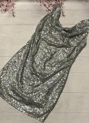 Платье блестящее паетки шикарное