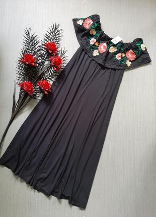 Вискозное платье с вышивкой per una