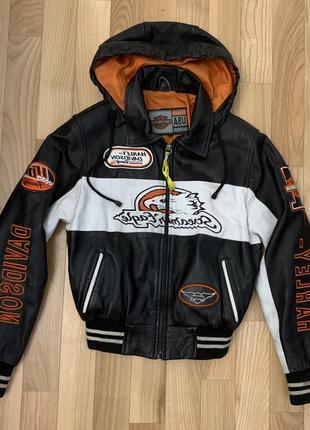Курточка кожаная Harley-Davidson USA детская 6-10 лет