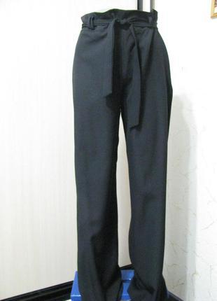 Штаны брюки женские 44-46 размер s-m черные широкие