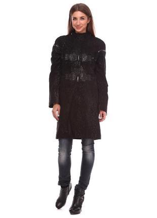 Скидка!!!плащ пальто кожаный плащ куртка кожа размер л(46)