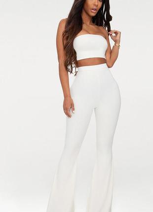 Моделирующие брюки клеш prettylittlething,  размер 8