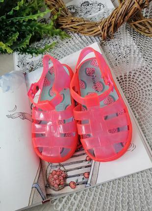Силиконовые сандали   желейные босоножки размер 25/26, стелька...