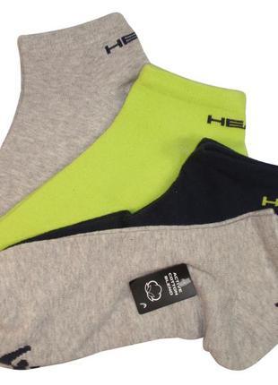 Короткие носки набор 4 пары спортивные мужские бренд head авст...