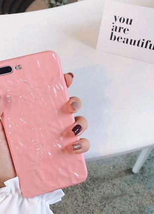 Силиконовый чехол жвачка для телефона iphone 7+/8+