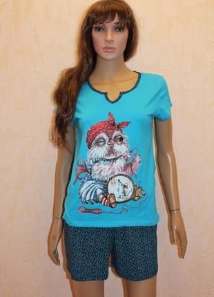 Пижама футболка и шорты с карманом