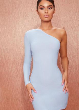 Стильное нежно-голубое платье от prettylittlething