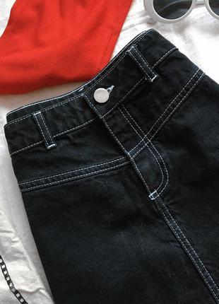Актуальная чёрная джинсовая юбка от asos
