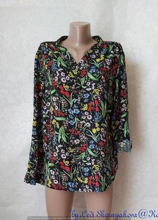 """Фирменная f&f блуза со 100 % вискозы в яркий сочный принт """"цве..."""