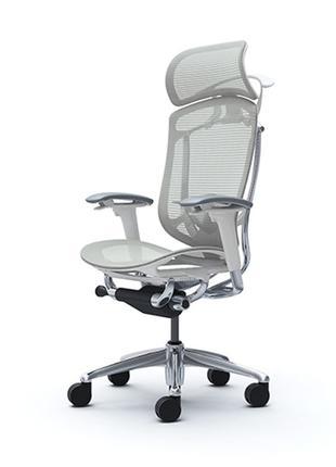 Кресло OKAMURA CONTESSA II SECONDA Белый каркас, Light Grey