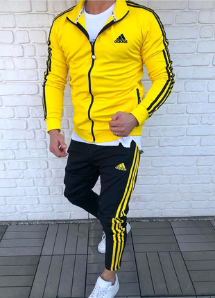Мужской спортивный костюм Adidas(жёлтый)