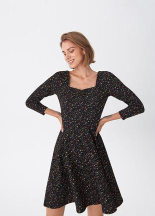 Новое платье в цветочный принт, платье в цветочек house