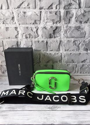 Marc jacobs snapshot 💚 женская сумка натуральная кожа