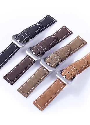 Ремешок, браслет для часов и смарт-часов из кожи, кожаный (22мм)
