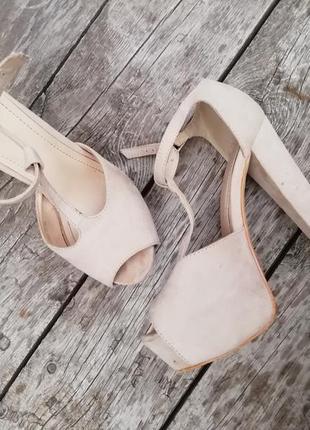 Туфли под замш на высоком каблуке 13см