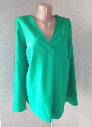 Зеленая блуза m&s р.14    (ог 100)