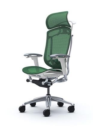 Кресла  OKAMURA CONTESSA II SECONDA  Белый каркас, Green
