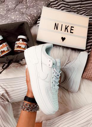 Отличные женские кроссовки nike air force 1 white белые