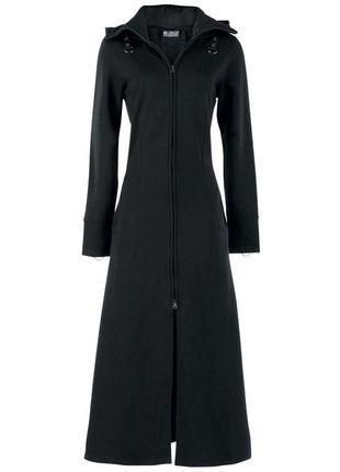 Poizeindustries концептуальное черное пальто с капюшоном р 44-...