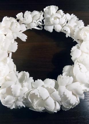 Венец белый из ткани