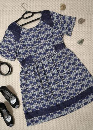 Платье so fabulous с гипюровыми вставками | р. 52