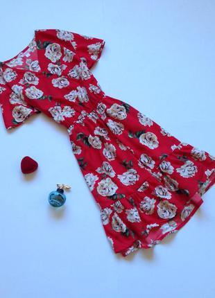 Красное платье для девочки 10 - 11 лет