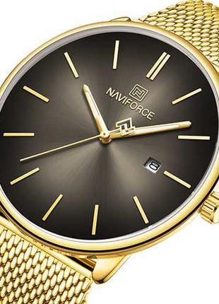 Оригинальные женские наручные часы Naviforce NF3012L Gold-Black