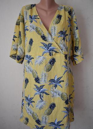 Новое натуральное платье с принтом большого размера missguided