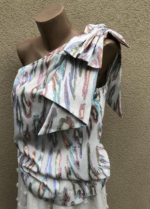 Вечерняя блузка на одно плече с люрексом next