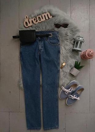 Актуальные прямые винтажные джинсы №386