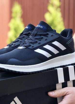 Мужские кроссовки adidas 🔥весна осень лето цвет синий белый