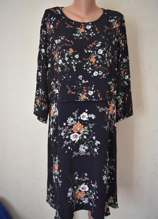 Вискозное платье с принтом большого размера m&co