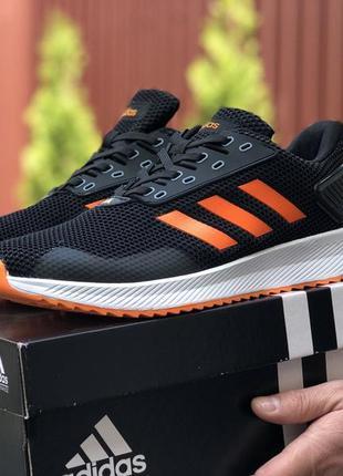 Мужские кроссовки adidas 🔥весна осень лето цвет чёрный белый о...