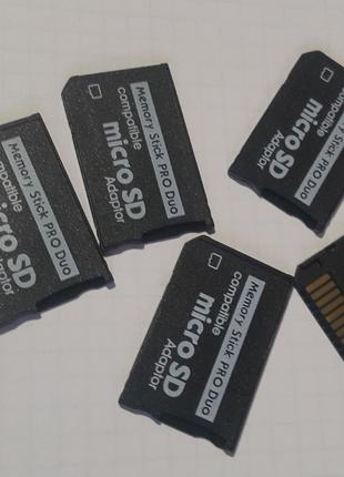 Адаптер переходник Sony Memory Stick Pro Duo - microSD psp и т.д.