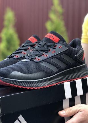 Мужские кроссовки adidas 🔥весна осень лето цвет чёрный красный