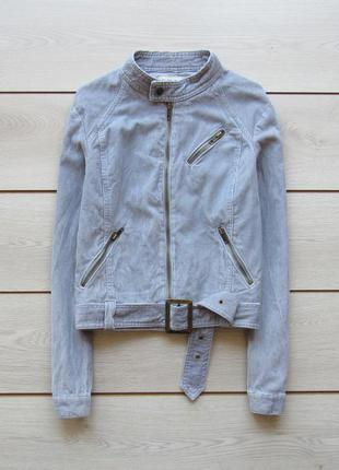 Вельветовая куртка косуха на поясе от cherokee