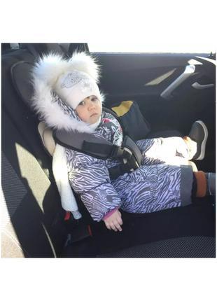 Детское автомобильное бескаркасное кресло от 6 мес до 7 лет