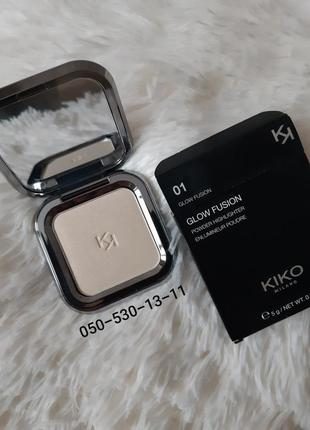 Хайлайтер пудровый glow fusion powder highlighter kiko milano!