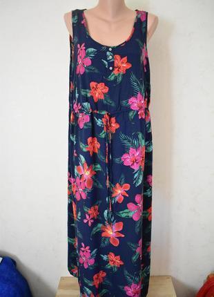 Новое натуральное платье с принтом большого размера george