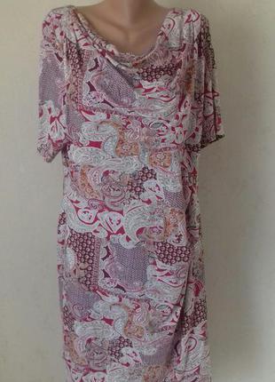 Красивое платье с принтом большого размера marks & spencer