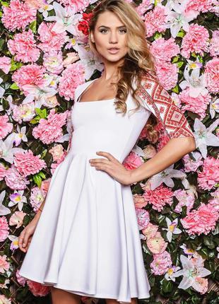 ❗️❗️❗️распродажа❗️❗️❗️ фирменное платье юбка-солнце белое с ор...