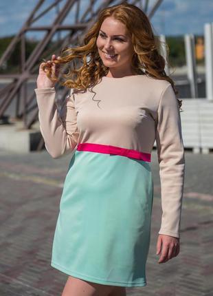 ❗️❗️❗️распродажа❗️❗️❗️ фирменное платье-трапеция с рукавами, н...
