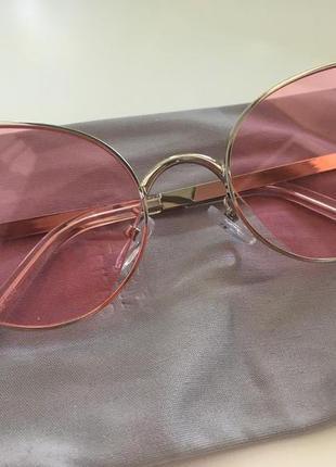 Очки солнцезащитные женские розовые
