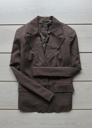 №39 пиджак блейзер в рубчик от laura scott