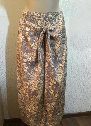 Стильная летняя юбка с эмитацией запаха вискоза