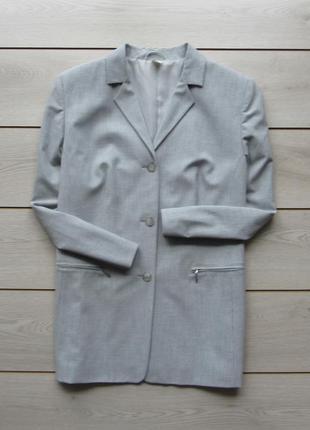 Пиджак чуть удлиненный большой размер