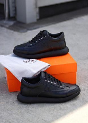 Кроссовки мужские 💥 hermès shoes black топ качество 💥 кроссовк...