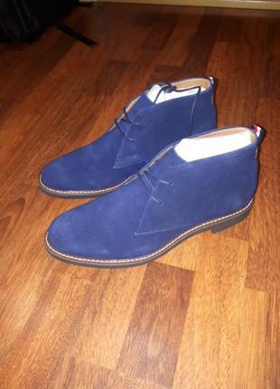 Замшевые ботинки туфли tommy hilfiger m10.5 m11