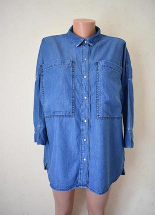 Стильная джинсовая рубашка оверсайз barbour